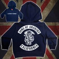 kids sons of anarchy clothing deluxe custom hoodie