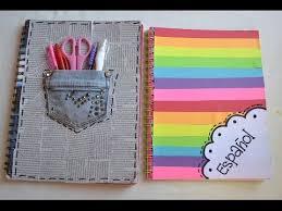 como forrar un cuaderno con tela youtube decora tus cuadernos regreso a clases youtube