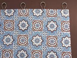 Shower Curtain Blue Brown Blue Shower Curtain Moroccan Shower Curtain Beach Shower Curtain