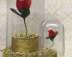 Cake Vase Set Beauty And The Beast Cake Topper Etsy