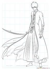 how to draw ichigo kurosaki bankai step by step drawing tutorials