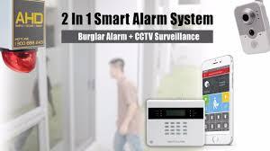 smart alarm 2 in 1 burglar alarm with cctv system youtube