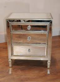 Mirrored Nightstand Sale Libby Silver Mirrored 3 Drawer Chest Nightstands Mesas And Drawers