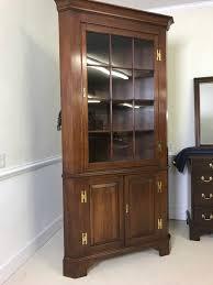 cherry wood corner cabinet henkel harris corner cabinet cupboard cherry 12 panes jenkins antiques