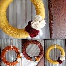 tutorial autumn yarn wreath diy wreath oh my handmade