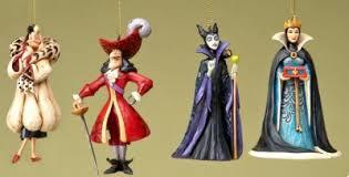 set of four disney villains ornaments jim shore disney traditions