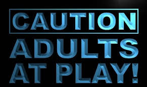 caution adults at play led sign neon light sign display m537 b c