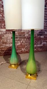 Glass Lamps Pair Tall Italian Murano Glass Lamps Vintage Vintage Italian