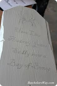 diy halloween tombstones sawdust