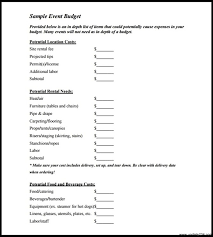 sample blank event budget template pdf download template
