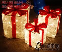 christmas present light boxes christmas gift led box iron craft spree christmas accessory