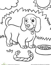 weiner dog puppy coloring weiner dogs worksheets