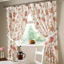Curtains 46 Inches Just Contempo Country Fruits Pencil Pleat Kitchen Curtains