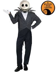 jack skellington deluxe halloween costume one size