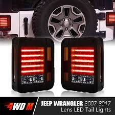 jeep accessories lights led tail lights for jeep wrangler jk 2007 2017 pair 4wdmuscle