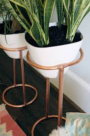 diy copper round plant stand darling darleen a lifestyle