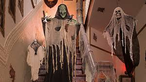 haunted house gauzy dinner table idea party city
