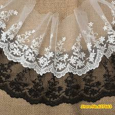 wide lace ribbon aliexpress buy white lace trim 15cm wide embroidered gauze