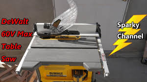 dewalt table saw review dewalt 60v max 8 1 4 table saw dcs7485t1 review and demonstration