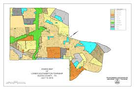 Pennsylvania District Map by Zoning District Map Lower Southampton Township