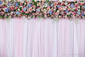 wedding backdrop online 7x5ft white pink wedding curtain backdrops colorful flowers photo