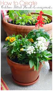 Outdoor Potted Plants Full Sun by How To Create Outdoor Potted Floral Arrangements Sew Woodsy