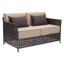 Curved Patio Sofa by Outdoor Sofas Outdoor Lounge Furniture The Home Depot