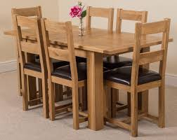 solid oak dining table and 6 chairs hton dining set with 6 lincoln chairs oak furniture king