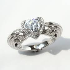 vancaro engagement rings heart shaped sterling silver engagement ring for women vancaro
