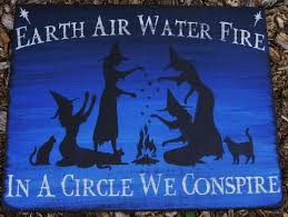 Folk Art Halloween Decorations Primitive Witch Signs Witchcraft Earth By Sleepyhollowprims On Zibbet