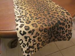 leopard print party supplies leopard print table runner safari party decorations jungle
