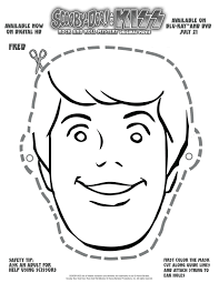 free scooby doo printable fred mask printable coloring pages