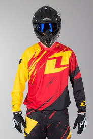 one industries motocross gear oneindustries vapor lite side swipe motocross jersey red black