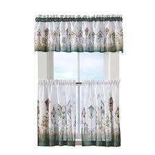 3 Piece Curtain Rod Amazon Com Birdhouse Kitchen Cafe Rod Pocket 3 Piece Window