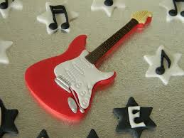 guitar cake topper electric guitar cake topper notes name number