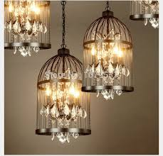 Home Decor Light 35 45cm Nordic Birdcage Pendant Lights Iron Cage Home