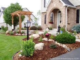 small front yard rock garden ideas design landscaping gallery good