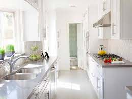 kitchen soft white gallery design in kitchen with white cabinets