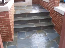 bluestone steps brick risers patio step limestone patio step