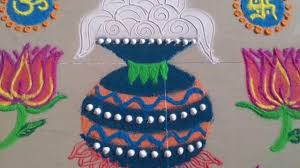 latest pongal kolam makara sankranthi muggulu designs with colours