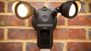 ring security light camera ring floodlight cam keeps watch when you can t cnet