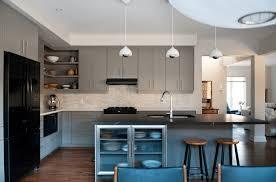 kitchen modern white kitchen features dark island breakfast bar