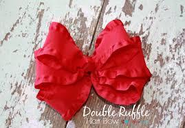 how to make hair bow to make a ruffle hair bow the ribbon retreat