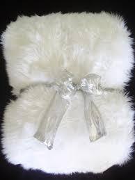 white shag faux fur throw blanket large liza pinterest faux