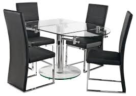 oval glass extending dining table with easy extending mechanism