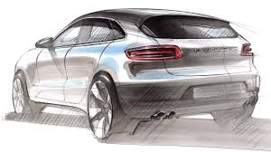 porsche concept sketch car design sketch u0026 drawing porsche macan youtube
