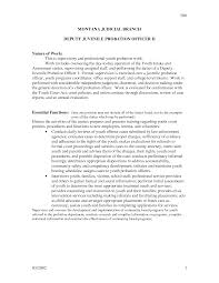 security supervisor resume objective office probation officer resume printable probation officer resume with photos large size