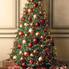 amazing red and gold decorated christmas tree ideas home design