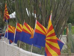 Az State Flag With Prayers And A Postage Stamp Arizona Pauses To Celebrate 100