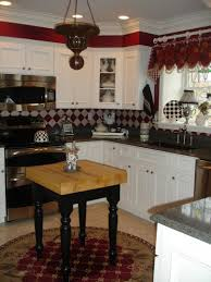 kitchen cool red kitchen decorating ideas black appliances white